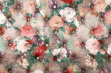 Paited Flower Tufted Texture Backdrop For Photography J-0141