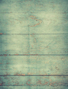 Pale Green Printed Wood Floor Texture Mat Backdrop