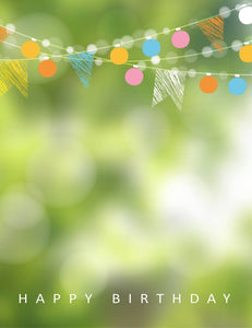 Party Flags With Green Bokeh Sparkle Backdrop For Photography