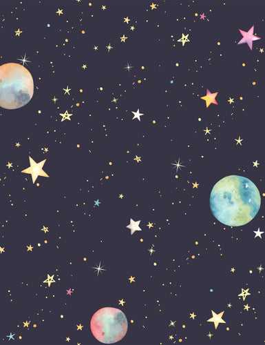Pattern Colorful Stars And Planets For Baby Photography Backdrop J-0723
