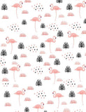 Patterned Pink Flamingos Custom Backdrop For Photography lv-029