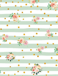 Patterns Pink Rose With Stripes Backdrop For Photography lv-056