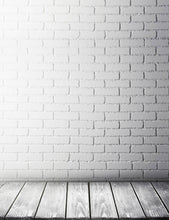 Patterns White Stucco Brick Wall And Wood Floor Backdrop For Photo