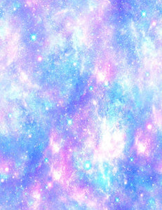 Pink and Blue Magical Galaxy Star Unicode Photography Backdrop J-0373