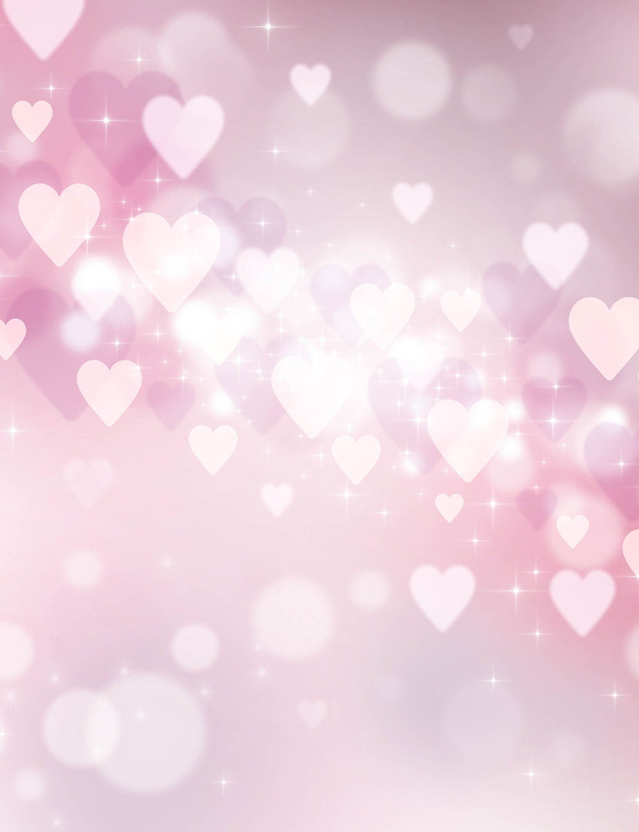 Pink And Red Heart Bokeh Photography For Valentines Day