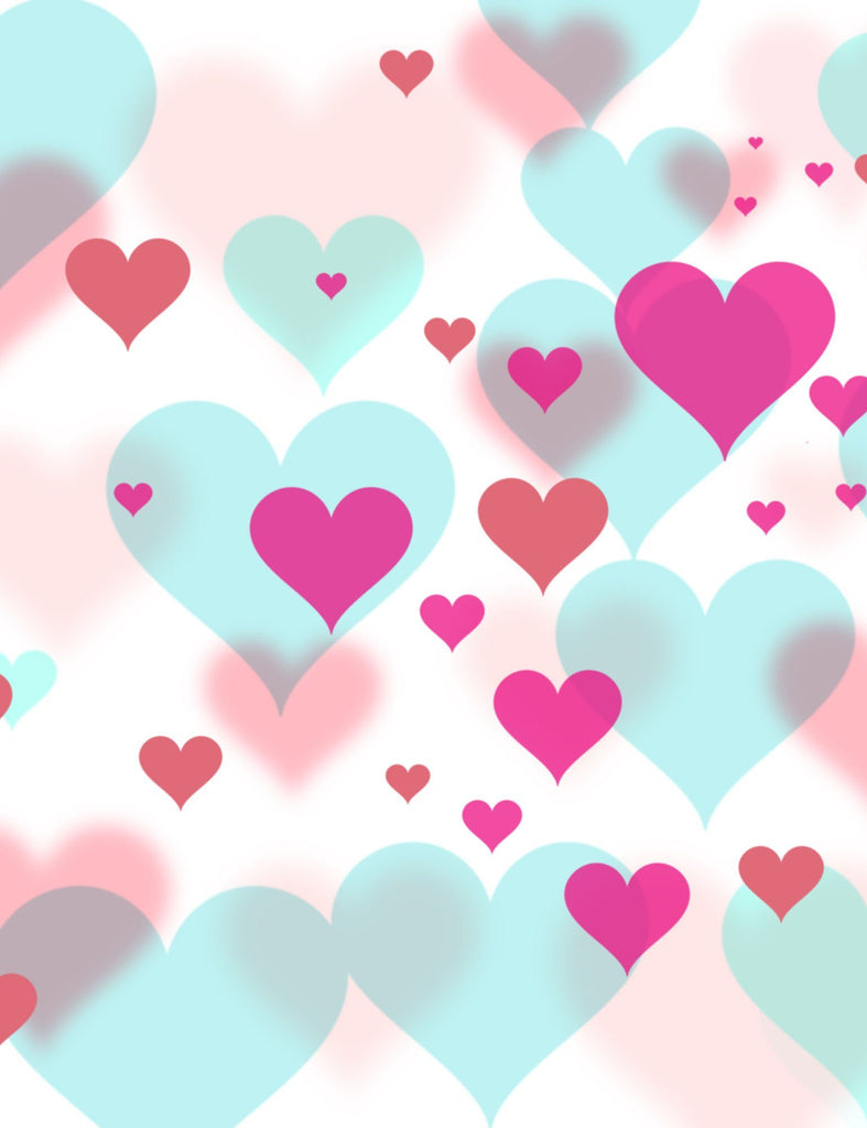 Pink And Red Hearts Printed On Bokeh Hearts Background For Holiday Backdrop - Shop Backdrop
