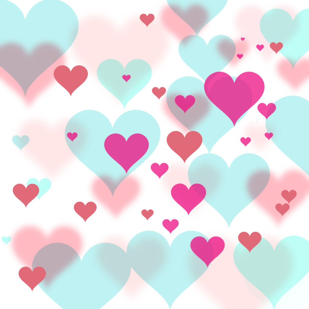 Pink And Red Hearts Printed On Bokeh Hearts Background For Holiday Backdrop