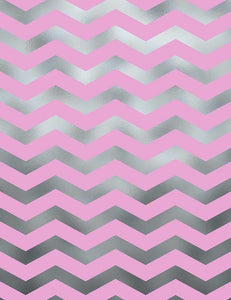 Pink And Silver Patterns Chevrons Texture Photography Backdrop Q-0592