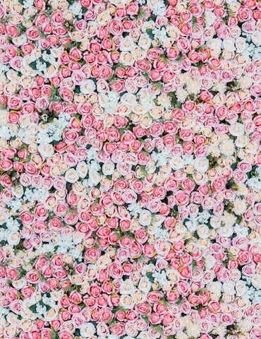 Pink And White Flowers Wall For Wedding Photography Backdrop S-2554