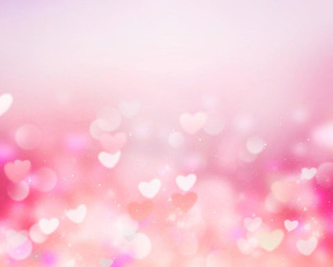 Pink Bokeh Hearts Abstract Backdrop For Wedding Photography Backdrop-