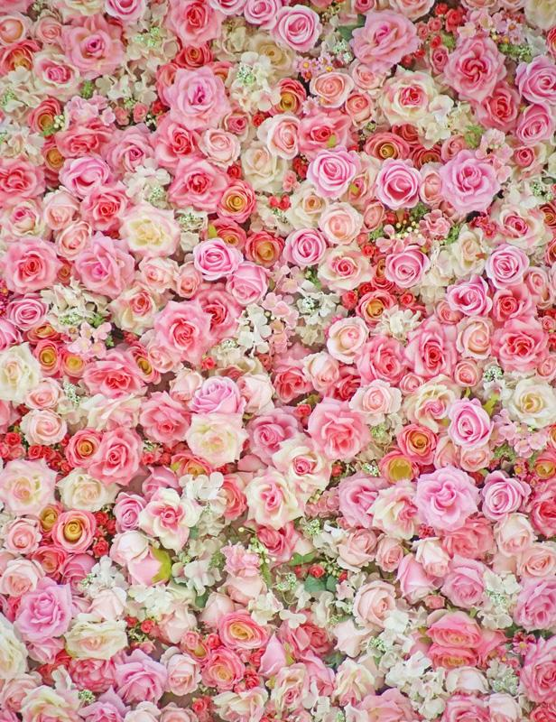 Pink Red Flowers Wall For Wedding Photography Backdrop S-2545