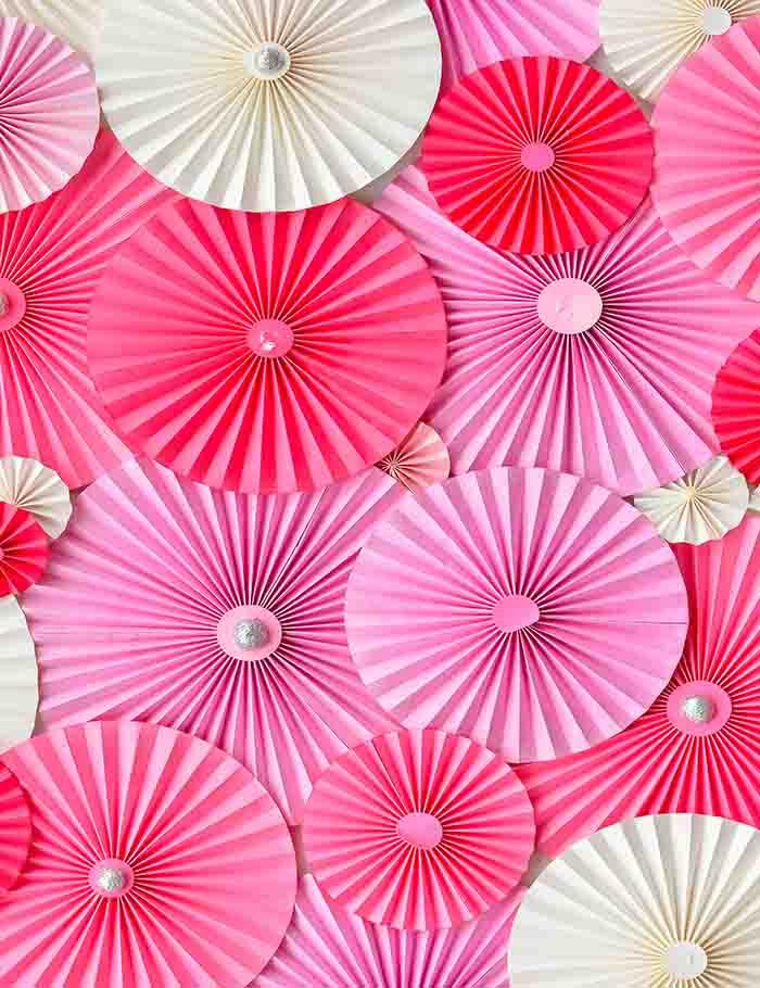 Pink Red Pinwheel Backdrop For Wedding Photography J-0123