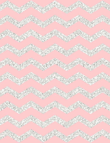 Pink Silver Chevrons Texture Photography Backdrop J-0540