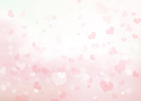 Pink Sparkle Hearts With Bokeh Background Photography Backdrop J-0168