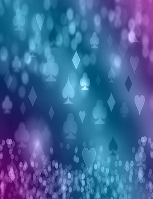 Playing Cards Shining Symbols Bokeh Photography Backdrop J-0368