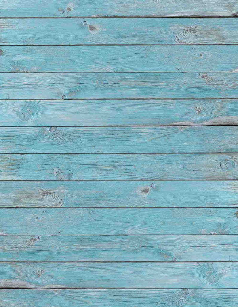 Powder Blue Retro Wood Floor Mat Backdrop For Photography