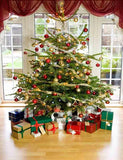 Presents Under Christmas Tree In Living Room Photography Backdrop J-0263