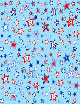 Printed Abstract Stars With Blue Background Photography Backdrop J-0192