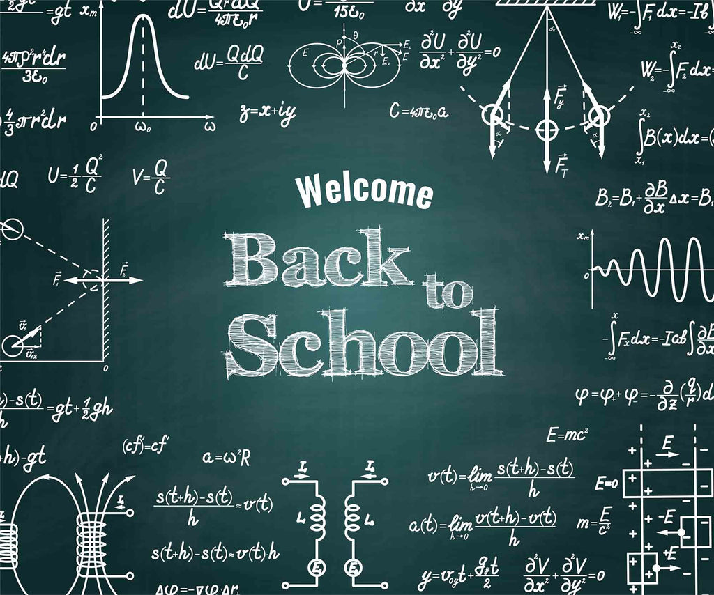 Printed Back To School On Chalkboard For Students Photography Backdrop +a