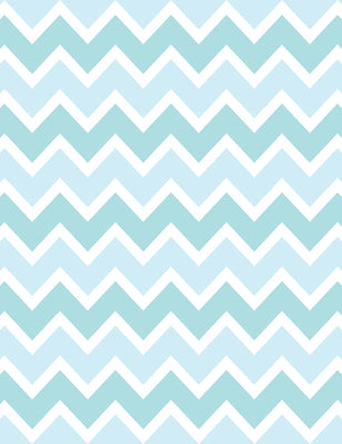 Printed Blue And Green Chevron Backdrop For Children