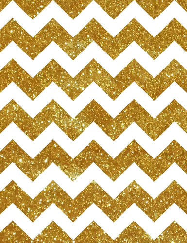 Printed Gold Chevron Photography Background For Children Backdrop