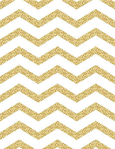 Printed Golden Chervon For Children Birthday Photography Backdrop J-0335