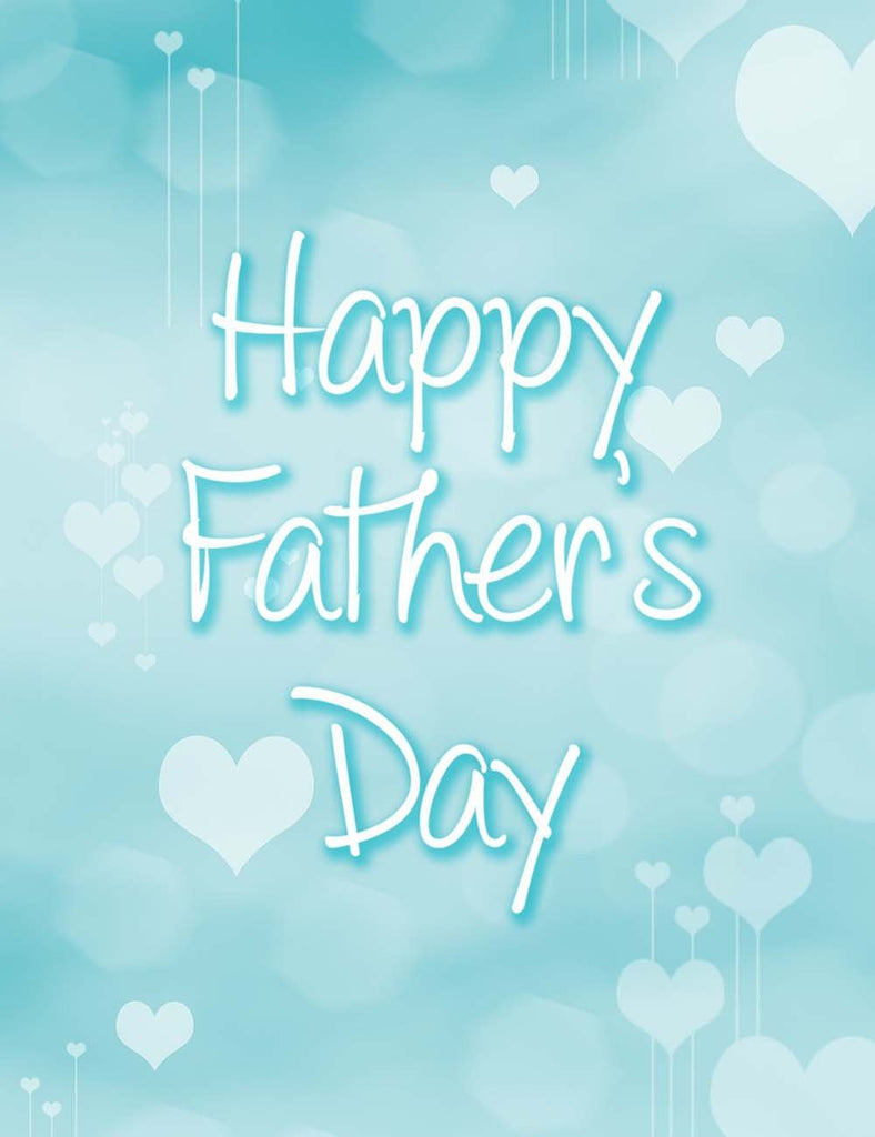 Printed Green Blue Happy Father's Day For Holiday Photography Backdrop
