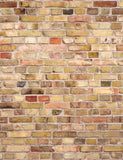 Printed Old Master Chrome Yellow Brick Wall Texture Photo Backdrop