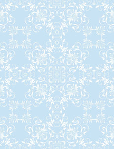 Printed Old Master Damask Blue Classic Photography Backdrop