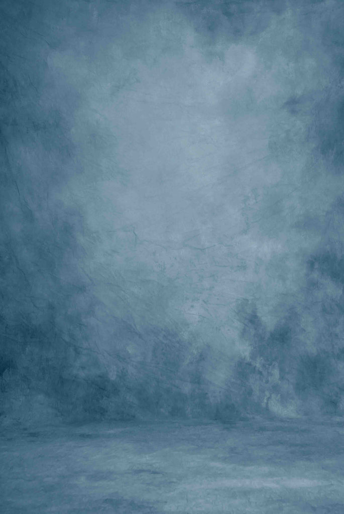 Printed Old Master Deep Pale Blue Abstract Lighter In Center Backdrop For Photography - Shop Backdrop