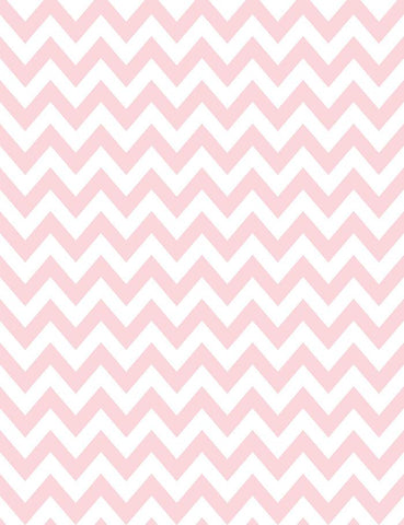 Printed Pink Chevron For Birthday Photography  Backdrop J-0116