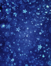 Printed Star In Blue Sky For Baby Photography Backdrop