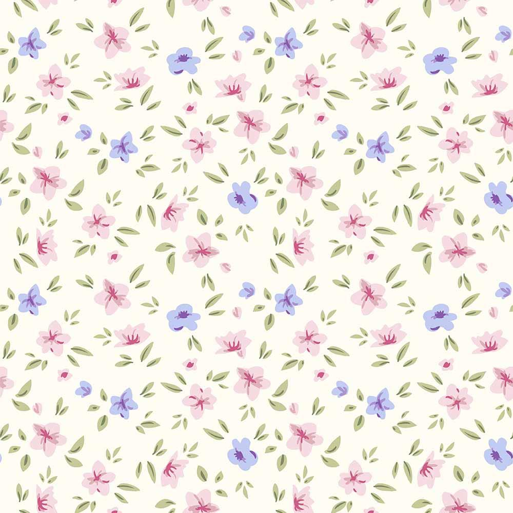 Purple And Pink Flowers Printed On Paper Wall Backdrop For Photography