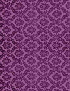 Purple Damask Printed Wall Backdrop For Photography