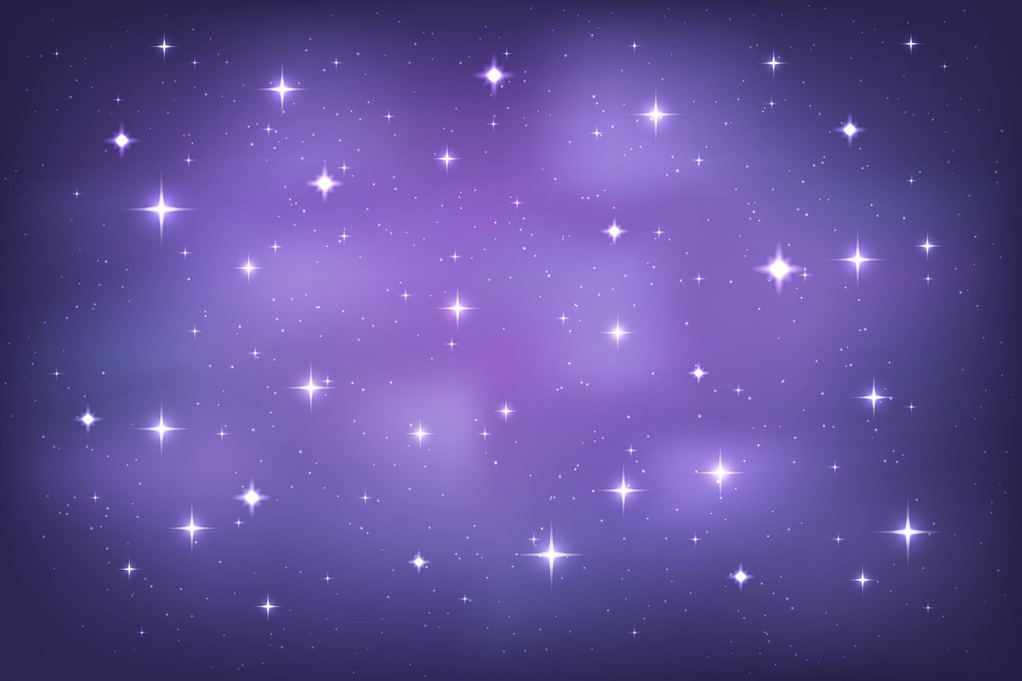 Purple Vast Universe Starry Sky Bokeh Background For Baby