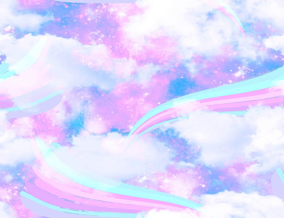 Rainbow Unicorn Clouds For Baby Show Photography Backdrop