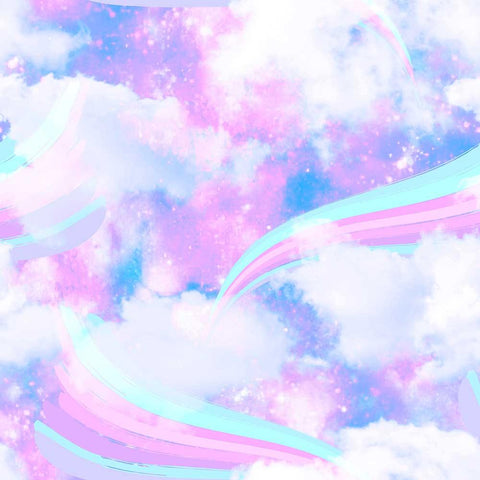 Rainbow Unicorn Clouds For Baby Show Photography Backdrop J-0202