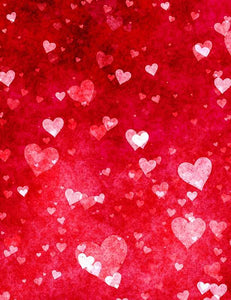 Red Hearts Texture Photography Backdrop For Valentines Day J-0264