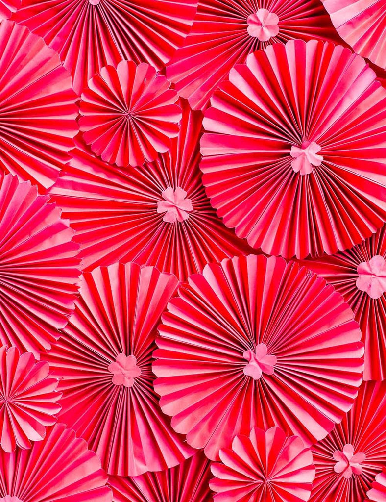 Red Pinwheel Wall For Wedding Photography Backdrop J-0701