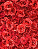 Red Rose Flowers Wall Backdrop For Wedding Photography