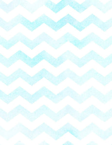 Retro Blue And White Chevrons Photography Backdrop Q-0594