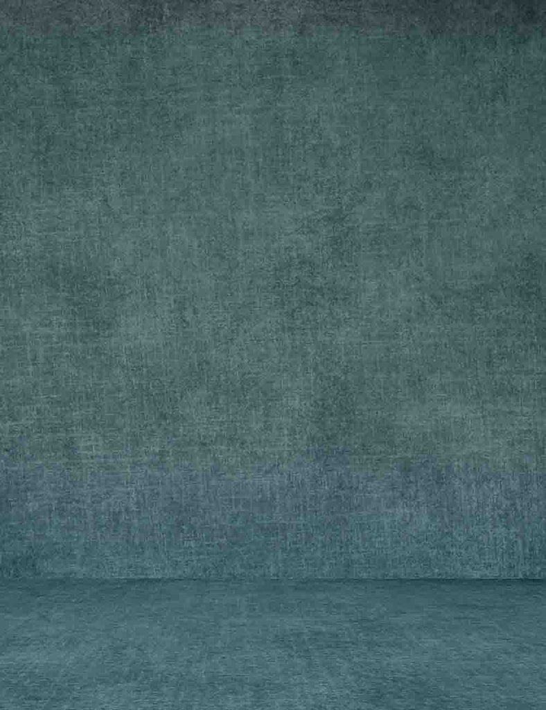 Retro Cadet Blue Abstract Photography Backdrop Q-055