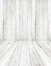 Retro Gray White Wood Floor Texture Backdrop For Photography  S-2606