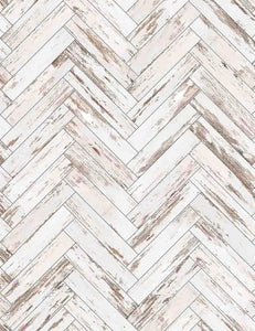 Retro Milk White  Chevrons Wood Floor Mat Photography Backdrop Q-0593