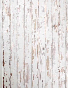 Retro Paint Peeling White Wood Floor Mats Backdrop For Photography