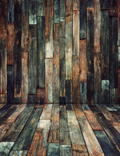 Retro Stitching Wooden Floor And Wall Texture Backdrop For Photography S-2599