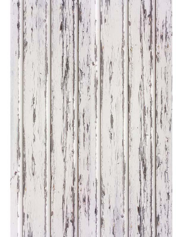 Retro White Painted Peeling Wooden Floor Mat Photography Backdrop Floor-794
