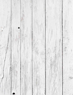 Retro White Peeling Wooden Planks Floor Mat Texture Photography Backdrop Q-0611