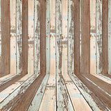 Retro Wood Wall With Floor Texture Photography Backdrop J-0460
