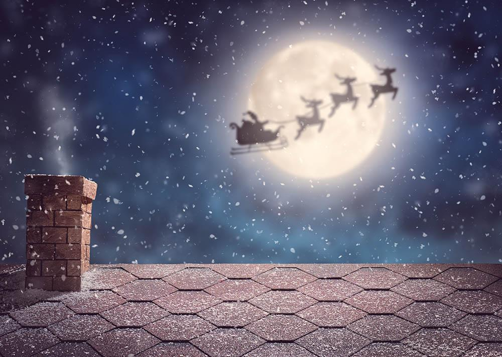 Room roof With Christmas Fly Skky Photography Backdrop N-0028